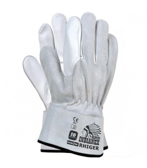 Rękawice ze skóry licowej dwoinowej RHIGER