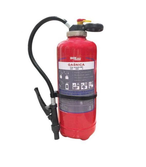 Gaśnica proszkowa do gaszenia pożarów grupy ABC 6 kg BX-GP-6XABC-O-E