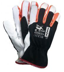 Rękawice ochronne z wysokiej jakości skóry koziej RLTOPER-DUO