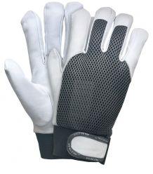 Rękawice z wysokiej jakości skóry koziej RLTOPER-SILVER