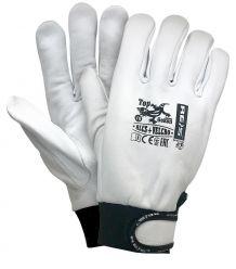 Rękawice z wysokiej jakości skóry koziej RLCS+VELCRO