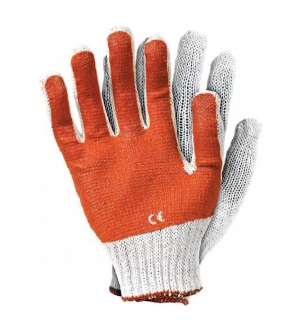 Rękawice wykonane z dzianiny, powlekane PCV i latexem RR