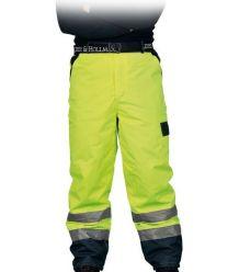 Spodnie ocieplane wykonane z fluorescencyjnej tkaniny do pasa  LH-VIBETRO
