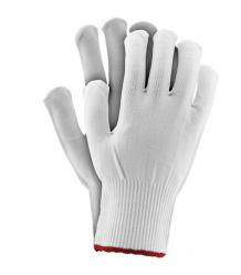 Rękawice dziane nylon białe RPOLY