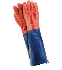 Rękawice ochronne wykonane z PCV, zakończone rękawem RPCV60-FISH