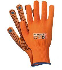 Rękawice dziane nylon kropka RNYDO-COLOR