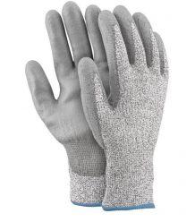 Rękawice antyprzecięciowe z przędzy HDPE OX-STEEL-PU