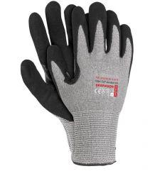 Rękawice ochronne z włókien grafenowych powlekane spienianym nitrylem GRAPHIXON