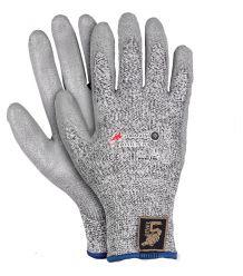 Rękawice ocieplane przeciwprzecięciowe ochronne RLEVEL5W-PU
