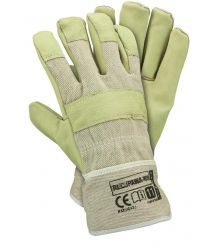 Rękawice ochronne ocieplane kożuszkiem wzmacniane skórą świńską RLCJPAWA-WIN