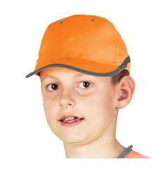 Czapka z daszkiem w kolorze fluorescencyjnym dla dzieci CZFLUO-KIDS