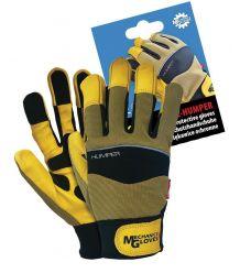 Rękawice ochronne z wysokiej jakości skóry koziej z tkaniną RMC-HUMPER