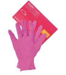 Rękawiczki nitrylowe w kolorze różowym COLLAGEN PF