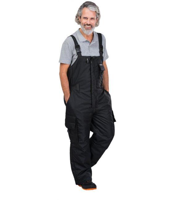 Spodnie ogrodniczki robocze, zimowe LH-BLACKER