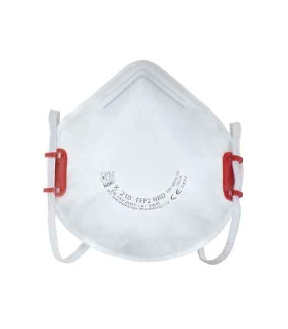 Półmaska filtrująca z regulowaną taśmą nagłowia X210 FFP2 NR D