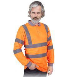 Koszulka polo ostrzegawcza z długim rękawem POLO-FLUO