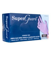 Rękawice nitrylowe jednorazowe diagnostyczne bezpudrowe SUPER GUARD PF