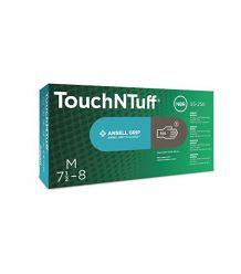 Rękawice jednorazowe nitrylowe Ansell Touchntuff 93-250 GRIP czarne