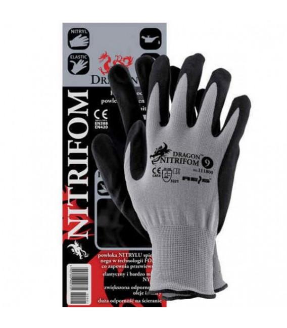 Rękawice z nylonu powlekane nitrylem NITRIFOM