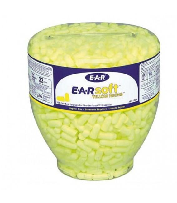 Wkładki przeciwhałasowe wymienne 3M EAR Soft™ PD02 Neonowe