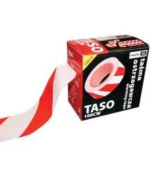Taśma dwustronna ostrzegawcza biało-czerwona 100 m