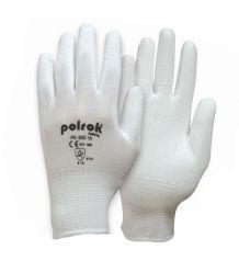 Rękawice powlekane poliuretanem białe POLROK PK 600 W