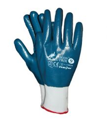 Rękawice z poliestru, powlekane nitrylem, zakończone ściągaczem BLUTRIX
