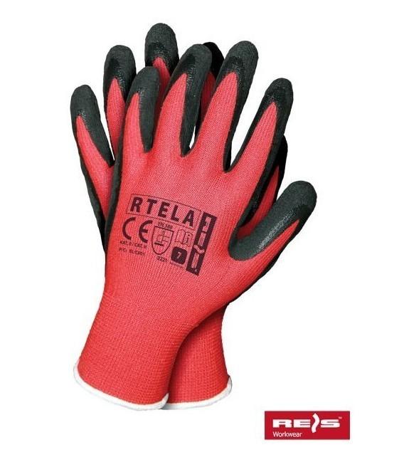 Rękawice z poliestru, powlekane gumą RTELA