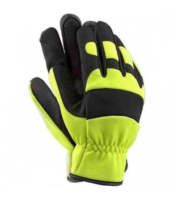 Rękawice z wysokiej jakości skóry syntetycznej połączonej z oddychającym materiałem spandex RMC-MECHANIC