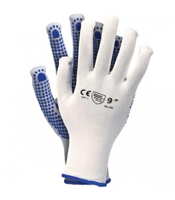 Rękawice z poliestru z jednostronnym nakropieniem RNYDO-PLUS