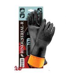 Rękawice z gumy z przedłużonym mankietem kwasoodporne RINDUSTRIAL-R dł. 35 cm i 60 cm