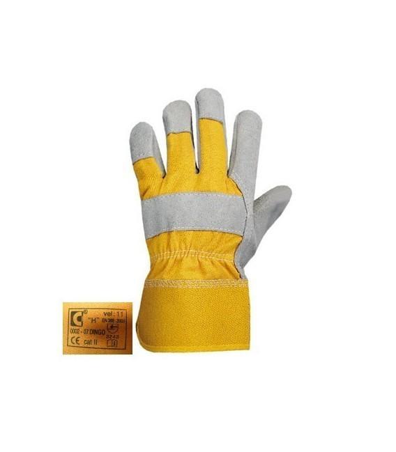 Rękawice wzmacniane skórą bydlęcą DINGO