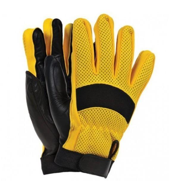 Rękawice z wysokiej jakości skóry koziej połączonej z tkaniną RYELOT
