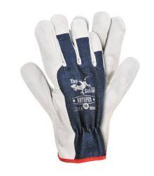 Rękawice wykonane z wysokiej jakości skóry bydlęcej RBTOPER