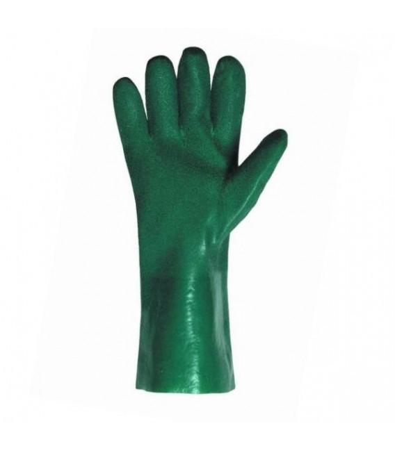 Rękawice kwasoodporne powlekane zielonym PCV PETREL