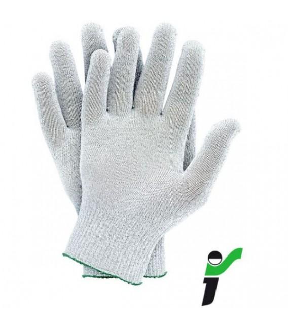 Rękawice ochronne dziane antystatyczne ESD RJ-ANTISTA