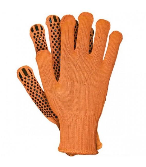 Rękawice ochronne nakropiane PCV RDZFLAT