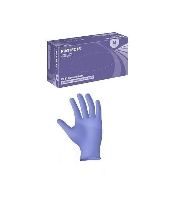 Rękawice jednorazowe nitrylowe PROTECTS HYGIENIC NITRILE LIGHT PF 200 szt.