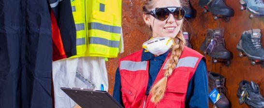 Odpowiedzialna ochrony oczu i twarzy